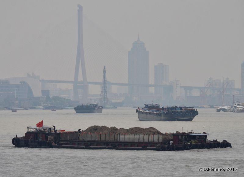 View of Huangpu river (Shanghai, China 2017)