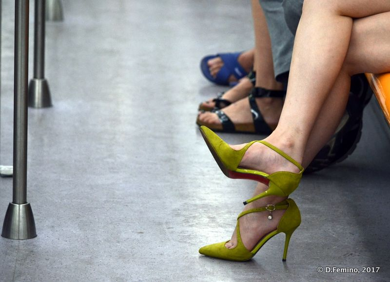 Feet in a metro car (Shanghai, China 2017)