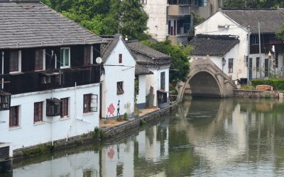 View of Zhujiajiao water town