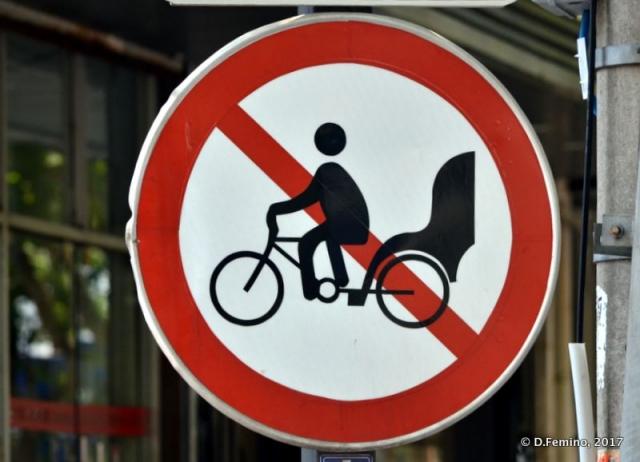 No access to rickshaws (Suzhou, China, 2017)