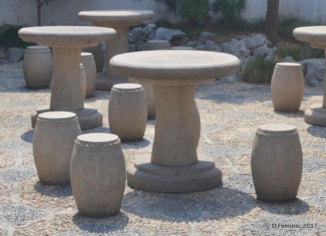 Stone table and stools (Suzhou, China, 2017)