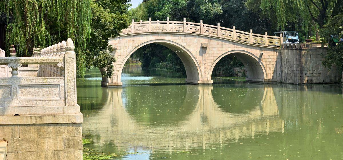 Bridge in Sanjiaoju Wetland Park