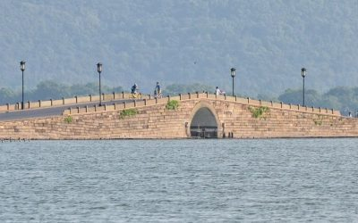 Scenic bridge in Hangzhou