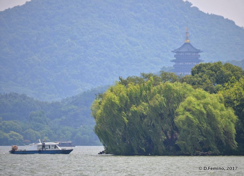 Glimpse in Northern lake (Hangzhou, China, 2017)