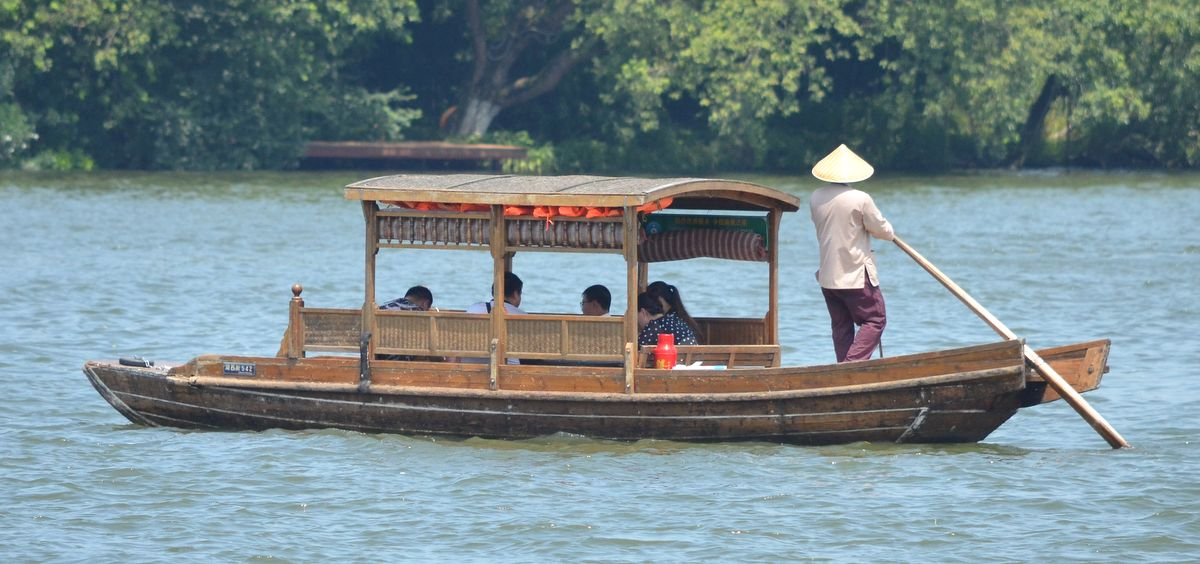 Traditional boat on Northern Lake
