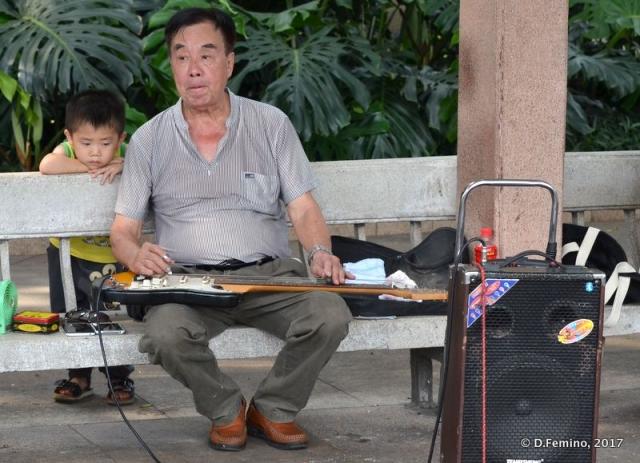 Playing guitar (Guangzhou, China, 2017)
