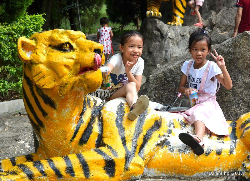 Playing on the tiger (Zhuhai, China, 2017)