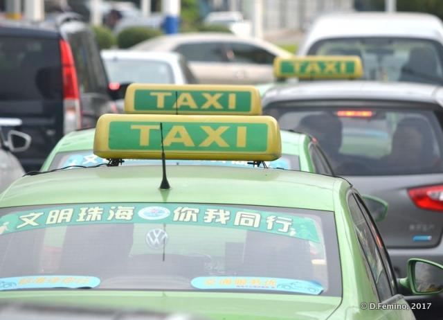 A lot of taxies (Zhuhai, China, 2017)