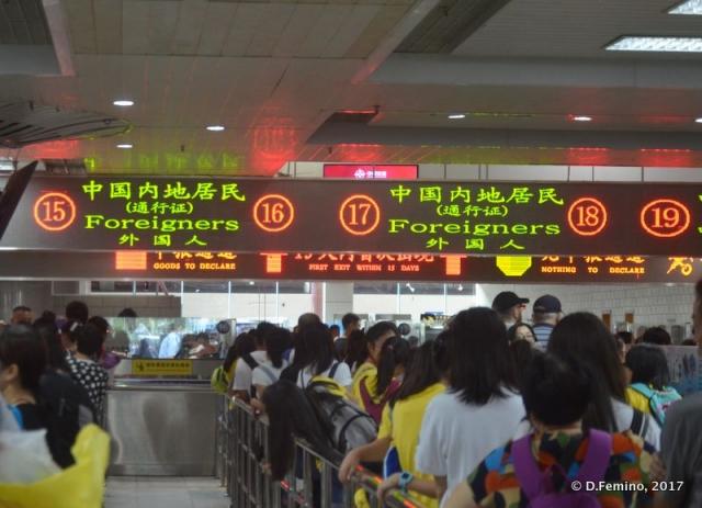 China-Macau border crossing (Zhuhai, China, 2017)