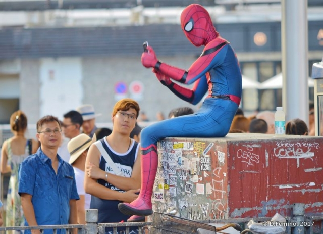 A picture with Spiderman (Hong Kong, 2017)