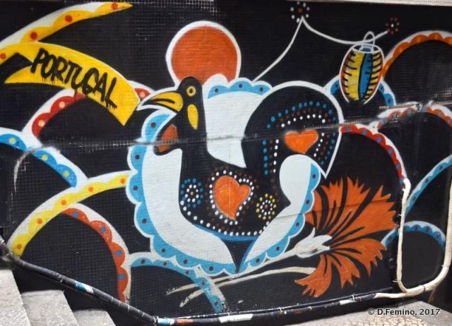 Barcelos Rooster in a murales (Macau, 2017)