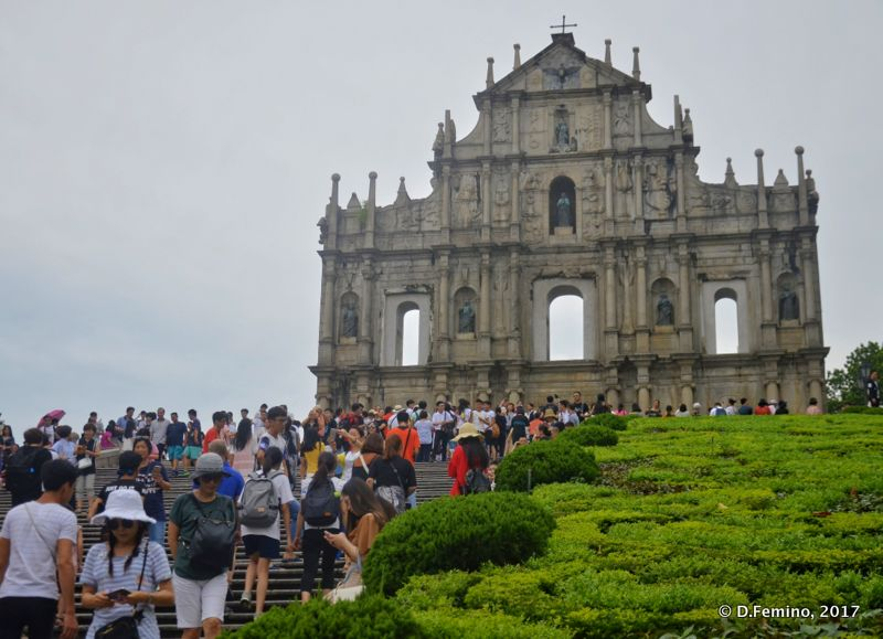 Ruined façade of Saint Paul's church (Macau, 2017)
