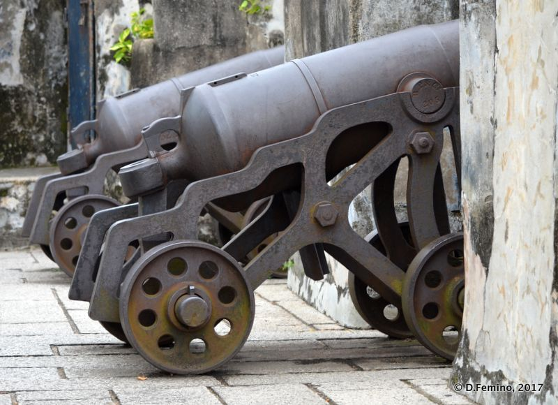 Cannons in Fortaleza do Monte (Macau, 2017)