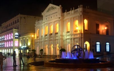 Largo do Senado in Macau at night