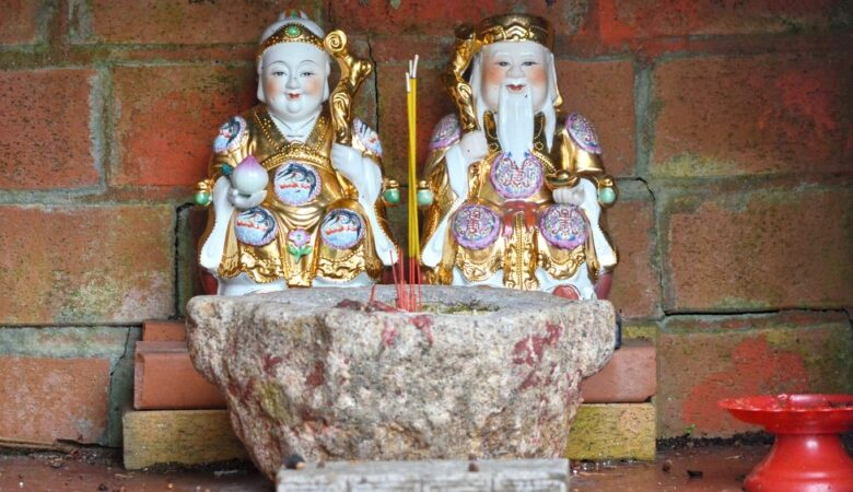 Deities altar in Coloane