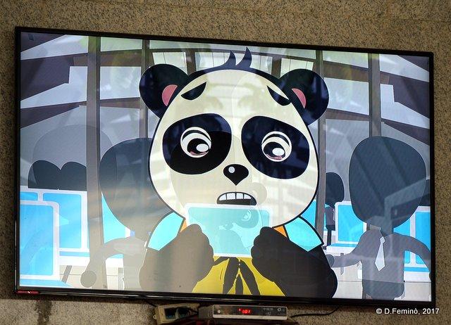 Scared panda (Pingyao station, China, 2017)