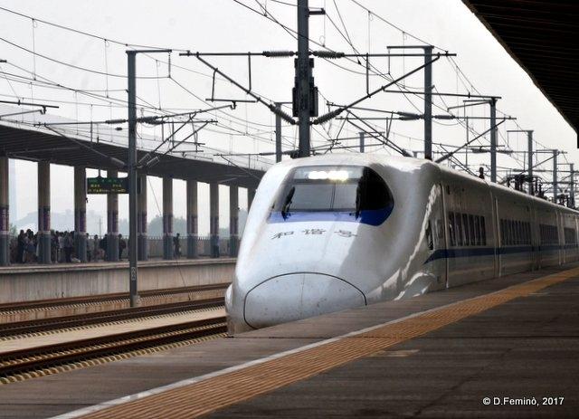 Bullet train is coming (Pingyao station, China, 2017)
