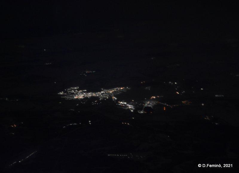 Krasnoyarsk from the plane (2021)