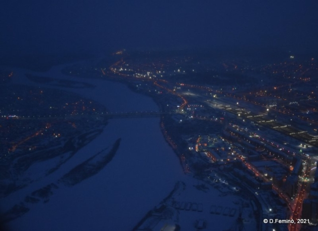 The Uda river and Ulan-Ude from above (2021)
