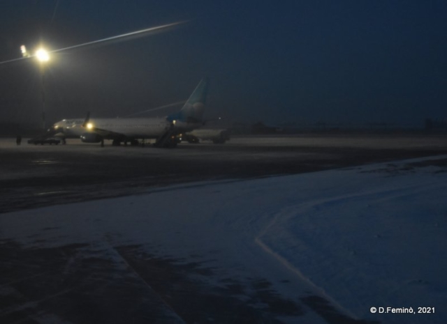 A plane from the plane (Ulan Ude Airport, 2021)