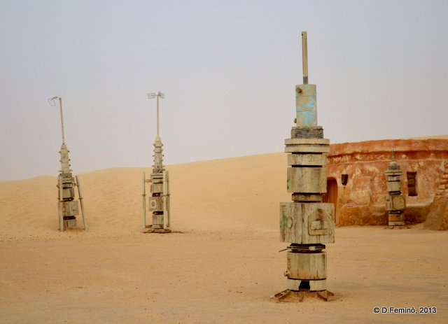 Alien items on Mos Espa set (Nefta, Tunisia, 2013)