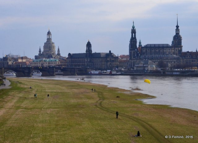 Old town and Elbe River (Dresden, Germany, 2016)