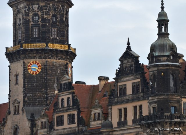 Roofs and clock (Dresden, Germany, 2016)