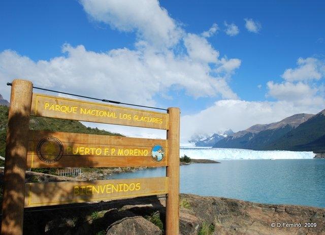 Welcome to los glaciares park (Perito Moreno, Argentina, 2009)