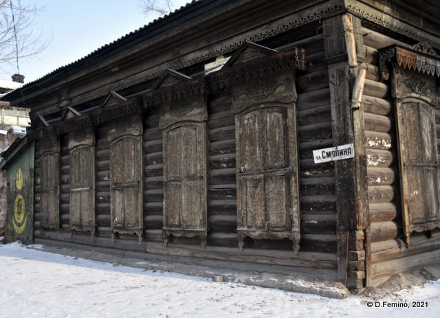Old siberian wooden house (Ulan-Ude, Russia, 2021)