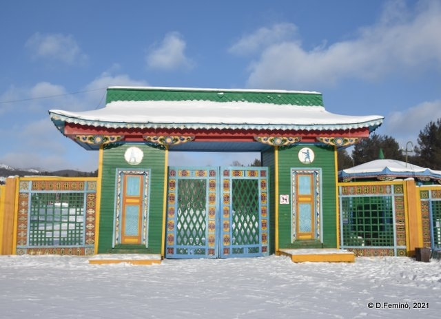 Ethnographic museum gate (Ulan-Ude, Russia, 2021)