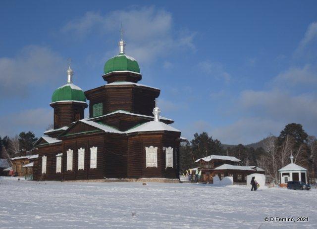 Wooden church (Ulan-Ude, Russia, 2021)