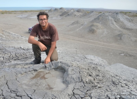 Near the mud volcanoes of Qobustan in Azerbaijan in 2013