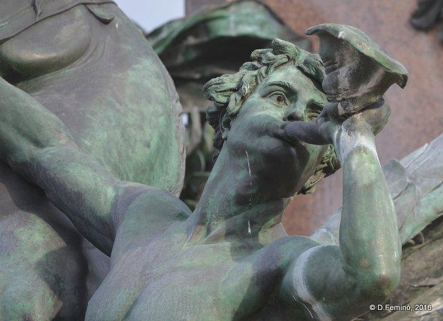Detail of Mendebrunnen fountain (Leipzig. Germany, 2016)