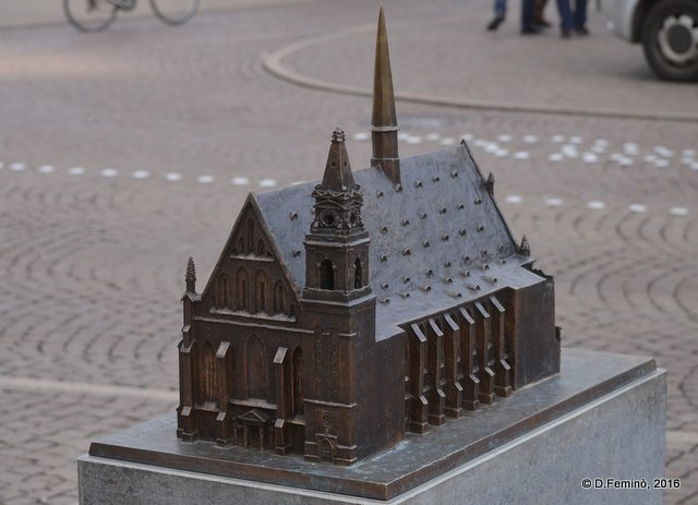 Bronze model of Cathedral (Leipzig. Germany, 2016)