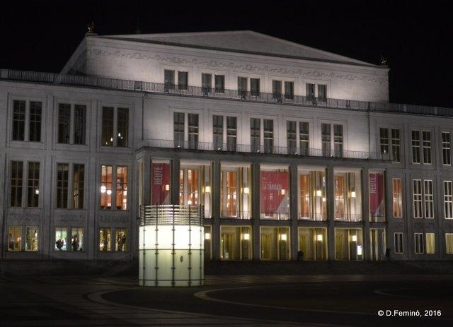 Opera house at night (Leipzig. Germany, 2016)