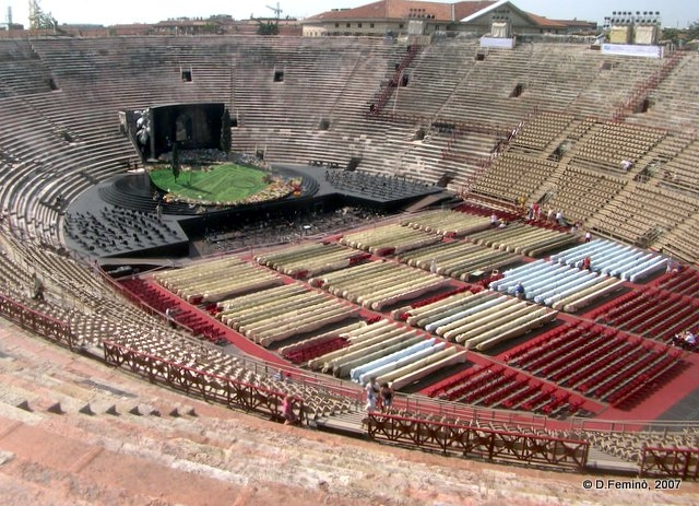 Arena ready for the show (Verona, Italy, 2007)