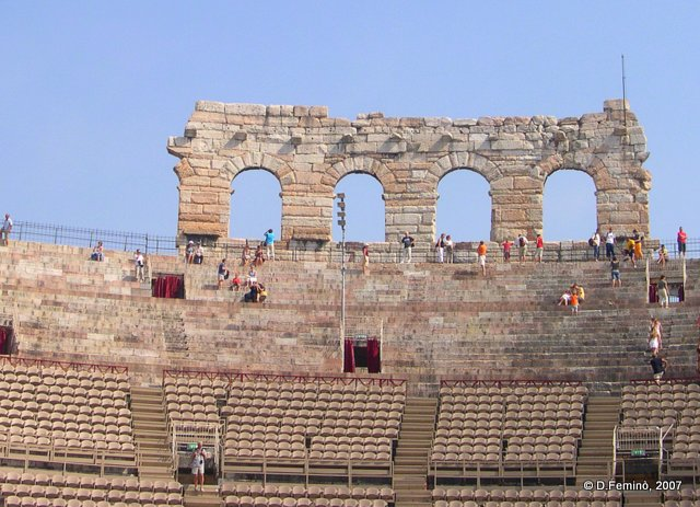 Detail of arena (Verona, Italy, 2007)