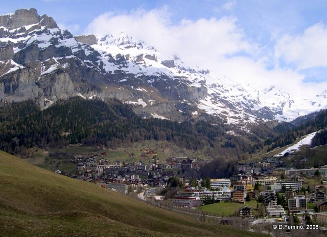 View of the town (Leukerbad, Switzerland, 2006)