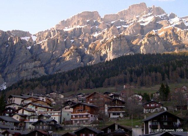Suburbs and mountains (Leukerbad, Switzerland, 2006)
