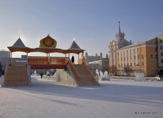 Gate to Ice Slides (Ulan-Ude, Russia, 2021)