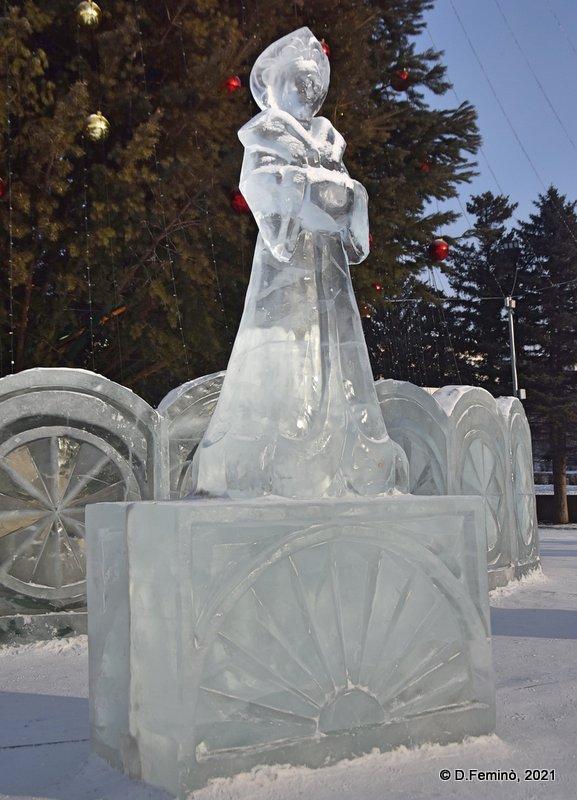 Ice sculpture (Ulan-Ude, Russia, 2021)