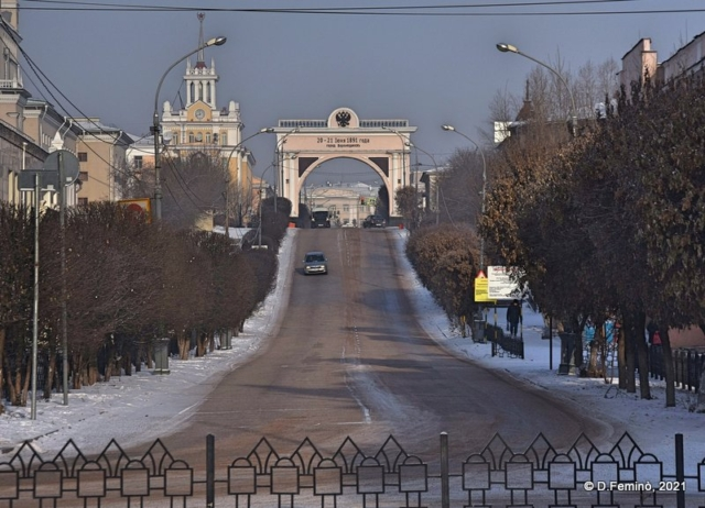 Triumphal arch (Ulan-Ude, Russia, 2021)