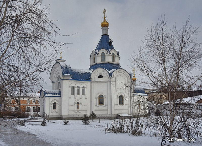 Church and snow (Ulan-Ude, Russia, 2021)