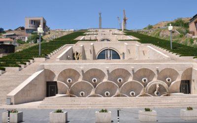 Frontal view of Casade (Yerevan, Armenia, 2013)