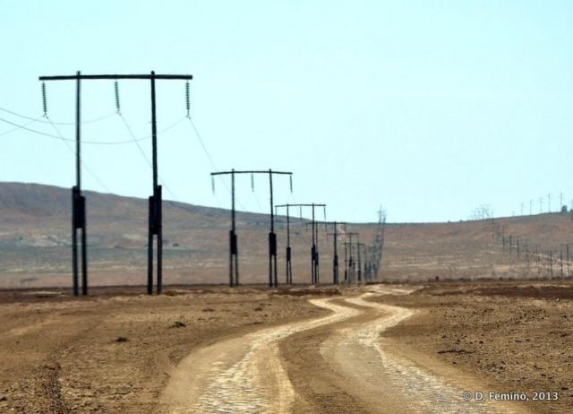 Road to mud volcanos (Qobustan, Azerbaijan, 2013)