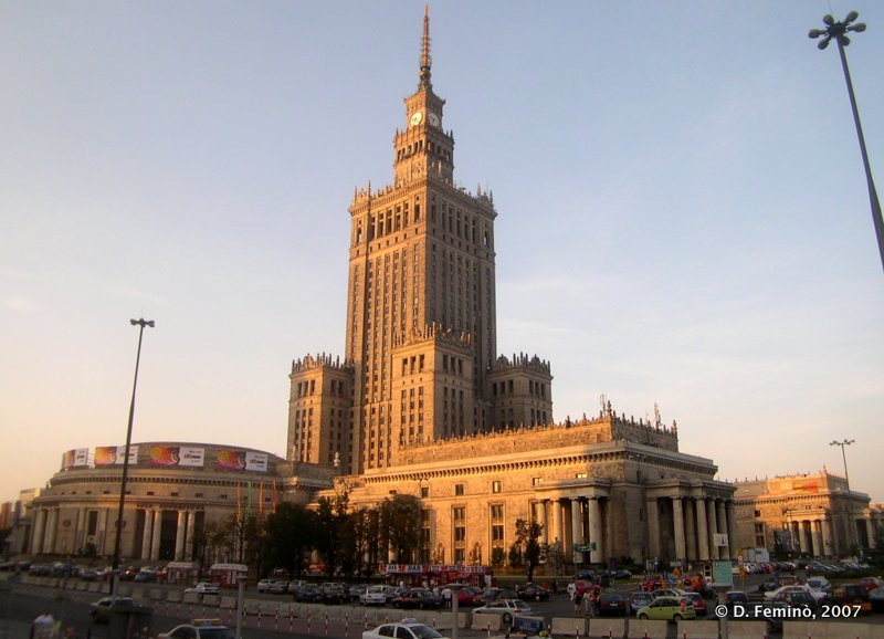 Palace of Culture at sunset (Warsaw, Poland, 2007)