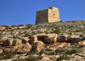 Tower in Dwejra bay (Gozo, Malta, 2012)