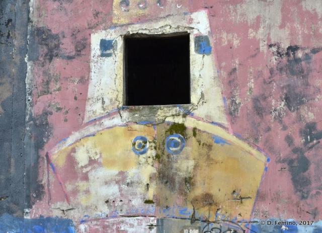 Boat wall painting (Kotor, Montenegro, 2017)