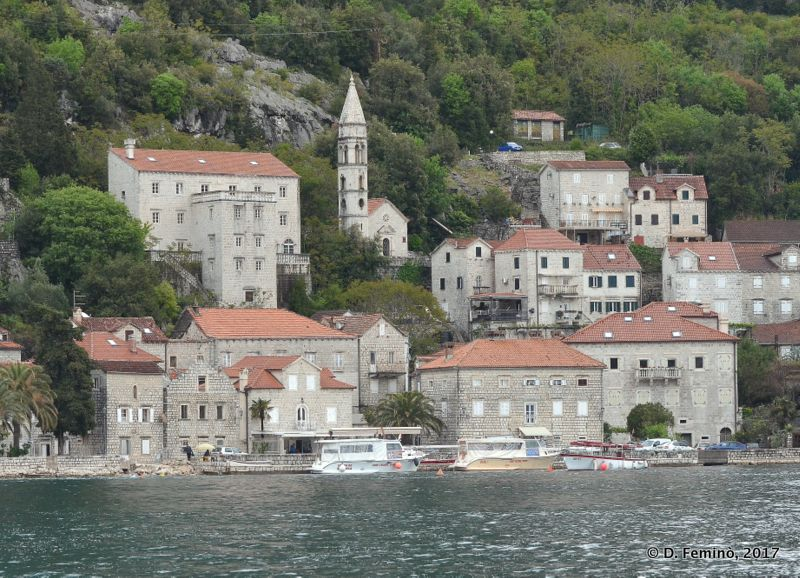 View of the town from the sea (Perast, Montenegro, 2017)
