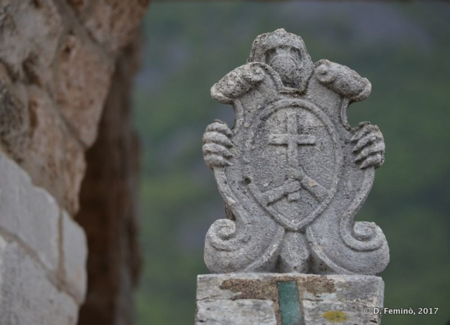 Coat of arms (Our Lady of the Rocks islet, Montenegro, 2017)